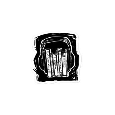Books and headphones Sticker
