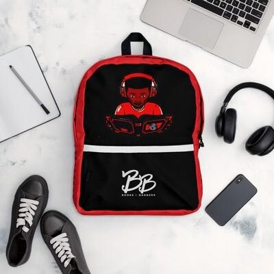 Books & Bangers Boy Joy Backpack in Crimson and Black