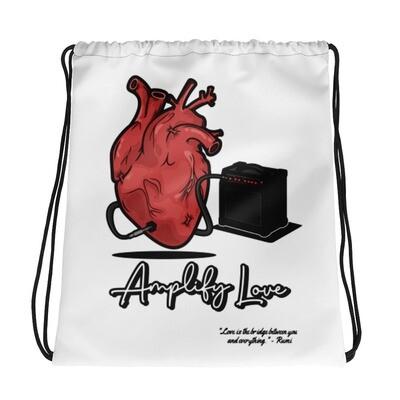 Amplify Love Drawstring bag w/ Rumi quote