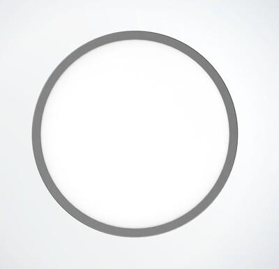 ProLuce® LED Panel TONDO 3018, Ø310 mm, 18W, 1980 lm, 3000K, CRI >90, 100°, silber