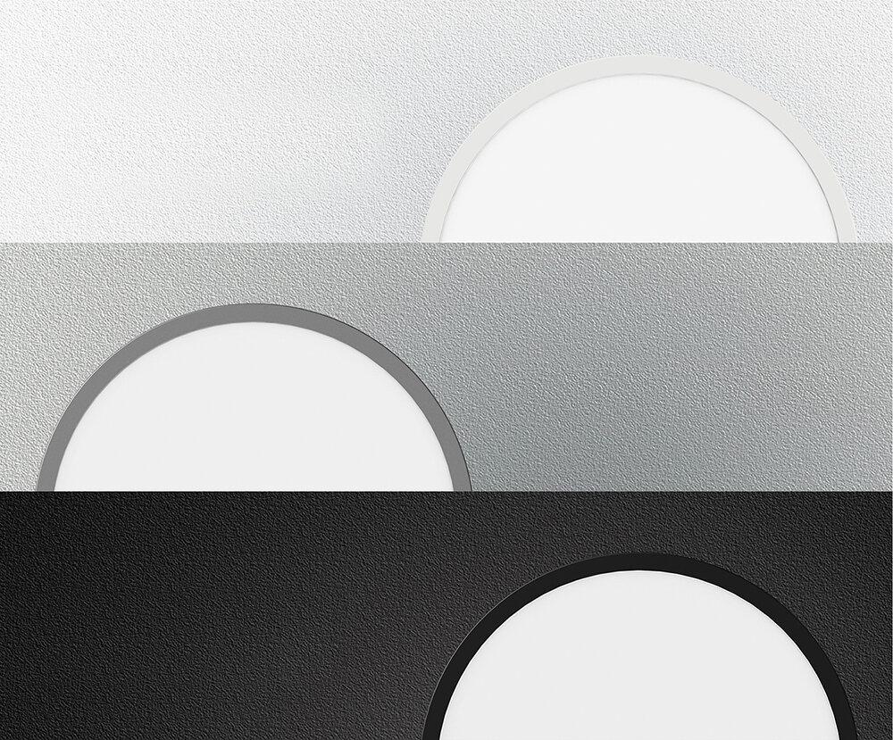 ProLuce® LED Panel TONDO 5048, Ø507 mm, 48W, 5280 lm, 3000K, CRI >90, 100°, silber