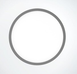 ProLuce® LED Panel TONDO 6036, Ø608 mm, 36W, 3960 lm, 3000K, CRI >90, 100°, silber