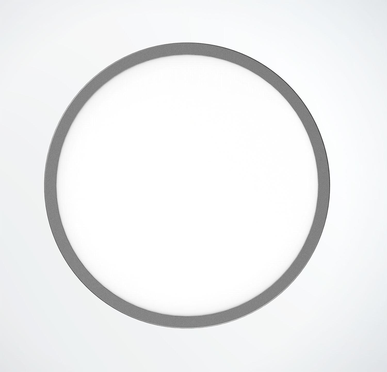 ProLuce® LED Panel TONDO 6060, Ø608 mm, 60W, 6600 lm, 2700K, CRI >90, 100°, silber