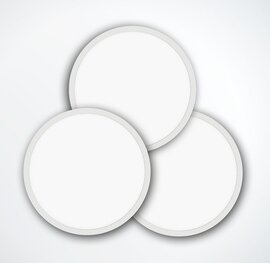 ProLuce® LED Panel TONDO 6060, Ø608 mm, 60W, 6600 lm, 4000K, CRI >90, 100°, DALI, silber