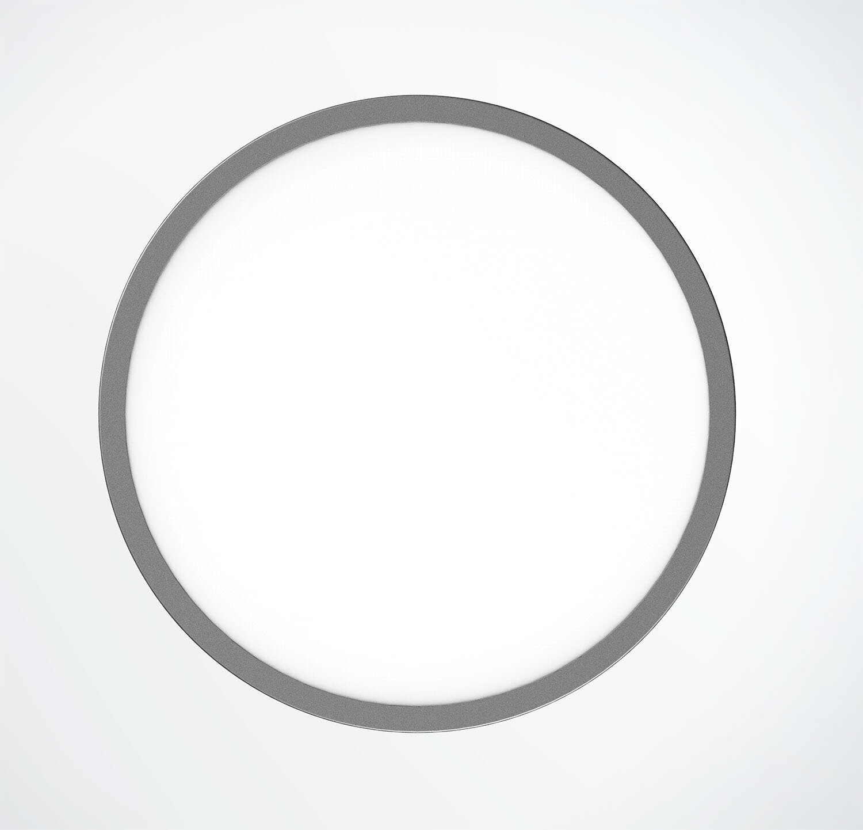 ProLuce® LED Panel TONDO 8060, Ø800 mm, 60W, 6600 lm, 2700K, CRI >90, 100°, silber