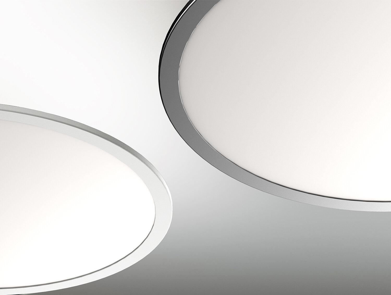 ProLuce® LED Panel TONDO 8072, Ø800 mm, 72W, 7920 lm, 2700K, CRI >90, 100°, 0-10V,  silber
