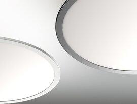ProLuce® LED Panel TONDO 9090, Ø900 mm, 90W, 9900 lm, 2700K, CRI >90, 100°, 0-10V,  silber