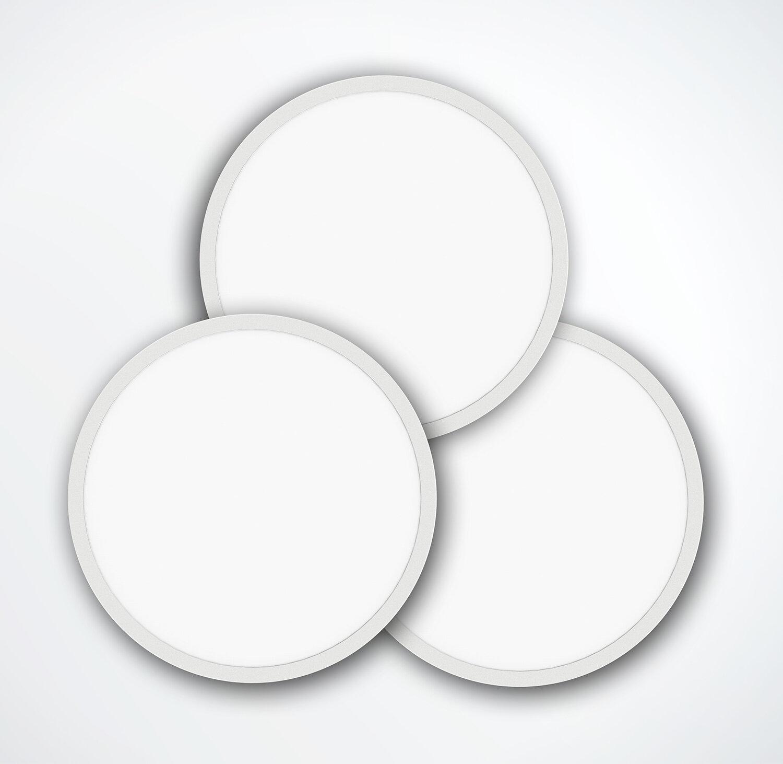 ProLuce® LED Panel TONDO 9090, Ø900 mm, 90W, 9900 lm, 3000K, CRI >90, 100°, DALI, silber