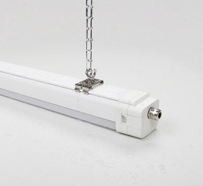 PROLUCE® OCA S/65 TriProof-Leuchte 1200mm, 47W, IP65, 4000K, 7050 lm, M.Sensor/DALI, 25° re ass.