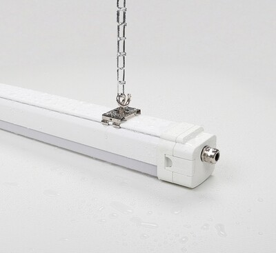 PROLUCE® OCA S/65 TriProof-Leuchte 1200mm, 47W, IP65, 3000K, 7050 lm, Cri>83Ra, DA25° ass., 0-10V