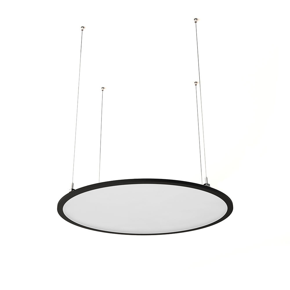 ProLuce® LED Panel TONDO/C Ø704 mm, horiz., 48W, 5280 lm, 2700K, 100°, schwarz