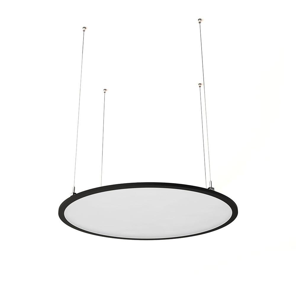 ProLuce® LED Panel TONDO/C Ø704 mm, horiz., 48W, 5280 lm, 2700K, 0-10V,  100°, silber