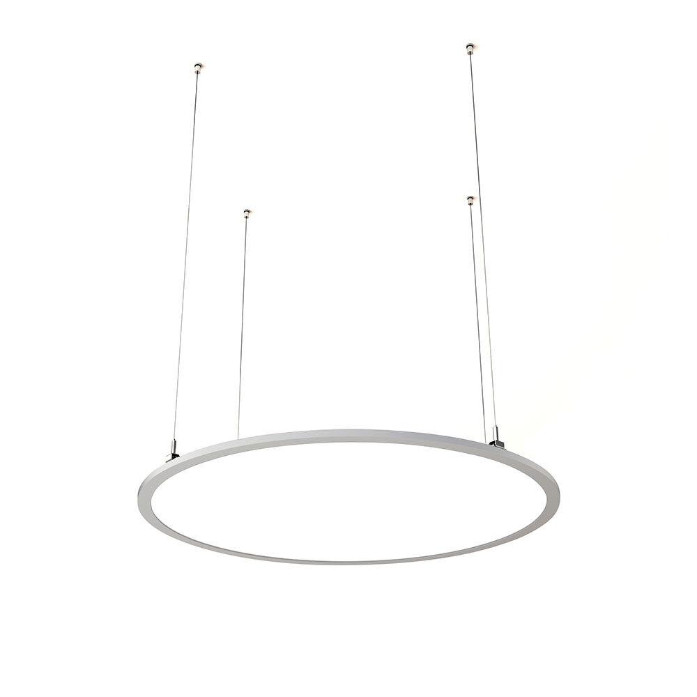 ProLuce® LED Panel TONDO/C Ø1000 mm, horiz., 90W, 9900 lm, 2700K, 0-10V,  100°, silber