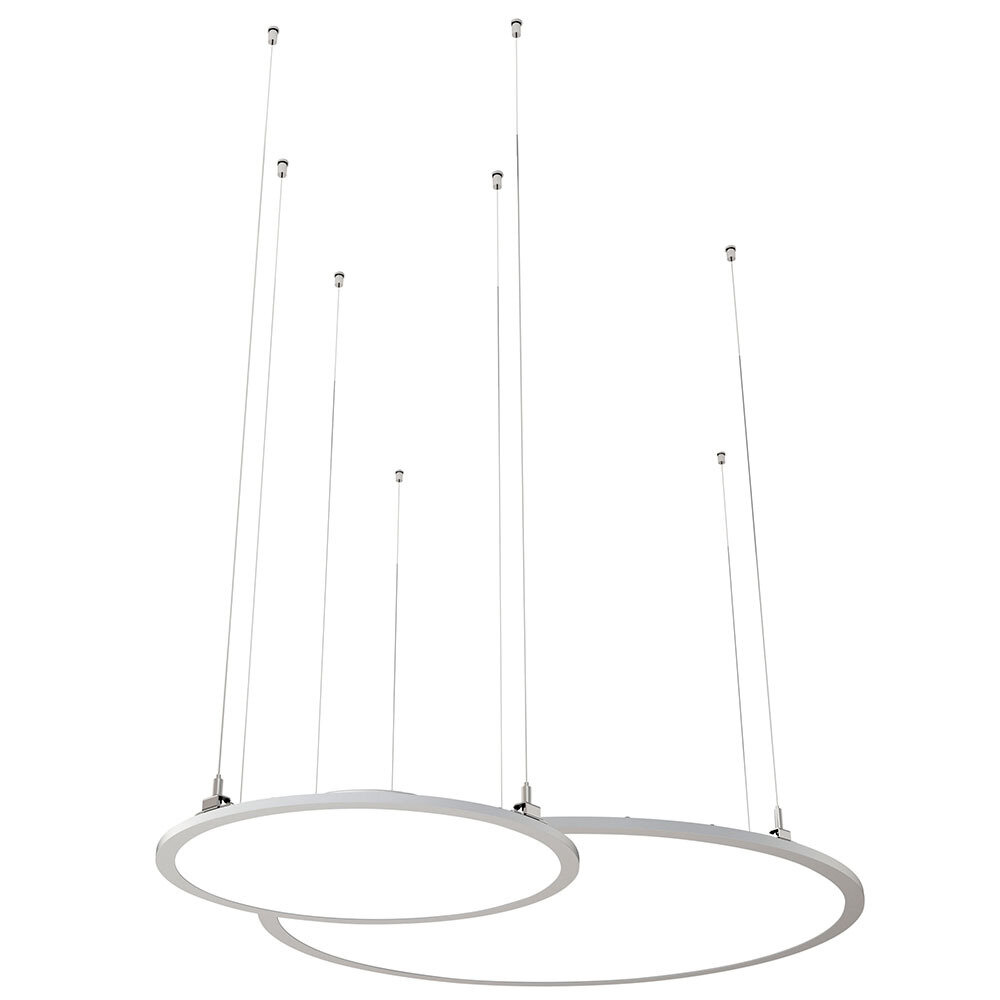 ProLuce® LED Panel TONDO/C Ø1200 mm, horiz., 110W, 12100 lm, 3000K, 0-10V,  100°, weiss