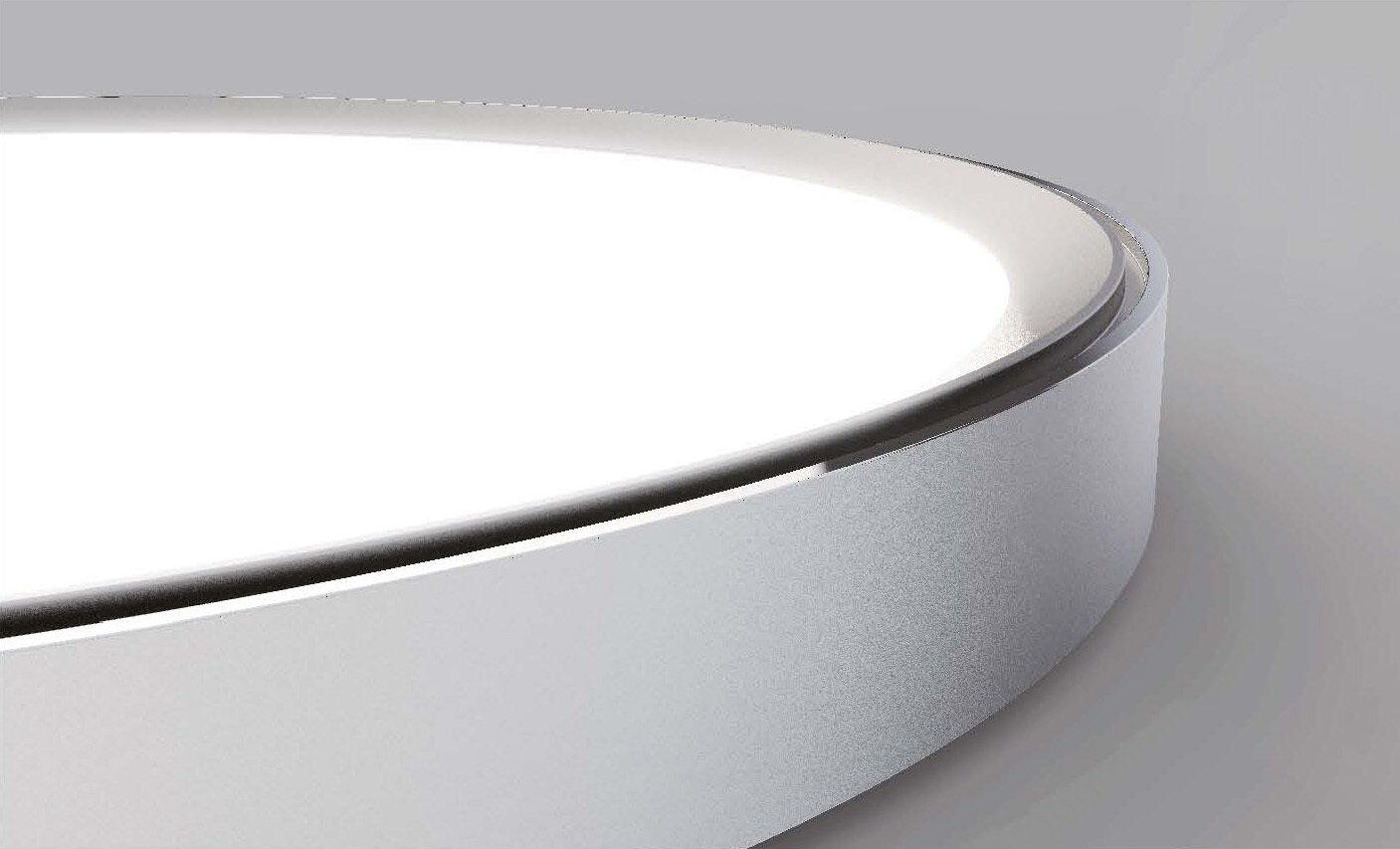 ProLuce® CODONE Aufbau-/Hängeleuchte 50W, weiss, 3000K, 4800 Lm, Ø550x44 mm, B.light, DALI