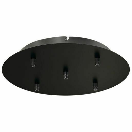 ProLuce® Hängeleuchte IL TUBO, 5er-Deckenkit, rund, schwarz