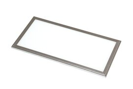ProLuce® LED Panel PIAZZA SP 145x1195x10 mm 36W, 3000K, 3240 lm, 110°, IP20, silber, nicht dimmbar