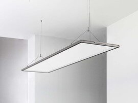 PROLUCE® LED Panel LALUNA/T STAND. 36W, 3240 lm, ALU, 1200x300x18 mm, 4000K, trsp., up&down