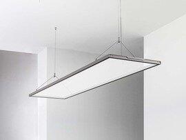 PROLUCE® LED Panel LALUNA/T STAND. 54W, 4860 lm, ALU, 1200x300x18 mm, 3000K, trsp., up&down