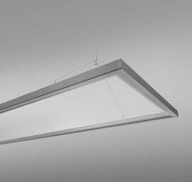 ProLuce® LED Panel PIAZZA/D 295x1195mm,48W 50/50%, 4320 lm, 3000K, DALI, Cri>90, dir./indir.
