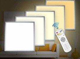 ProLuce® LED Panel PIAZZA/RF 595x595x10 mm 40W, 4000 lm, 110°, IP20, silber, 3000K-6000K regelbar