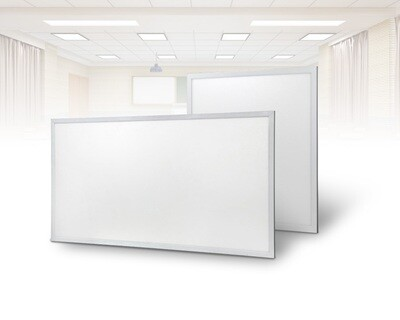 ProLuce® LED Panel PIAZZA/19 595x595 mm 48W, 3000K, 4320 lm, 110°, UGR<19, silber, on/off