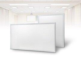 ProLuce® LED Panel PIAZZA/19 595x1195 mm 72W, 3000K, 6500 lm, 110°, UGR<19, silber, DALI