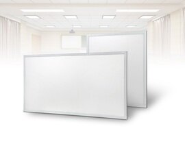 ProLuce® LED Panel PIAZZA/19 595x1195 mm 72W, 4000K, 6500 lm, 110°, UGR<19, silber, DALI