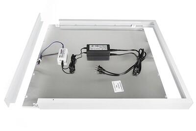 ProLuce® LED Panel PIAZZA SMA Aufbaurahmen, für Panel 595x1195 mm, weiss, steckbar