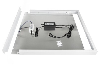ProLuce® LED Panel PIAZZA SMA Aufbaurahmen, für Panel 145x1195 mm, weiss, steckbar