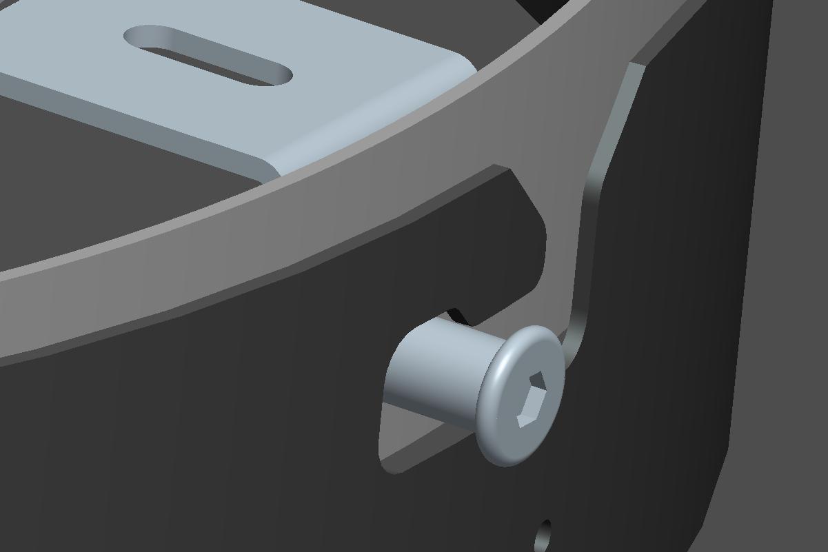 ProLuce® Wandmontagekit TONDO für Ø300 mm, bis Ø500 mm, schwarz, mit Demontage-Sicherung