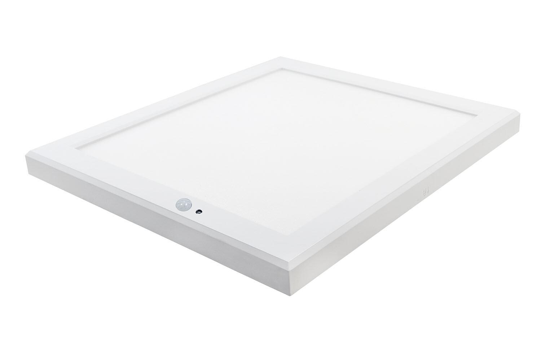 ProLuce® Aufbauleuchte CIRCOLO S22, 18W, 220x220x1, Tri-Color, 1350-1550lm, PIR Sensor
