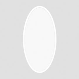 ProLuce® LED Panel OVALE 400x900x12.5 mm, 72W, 7200 lm, 3000K, CRI >90, silber, ein/aus