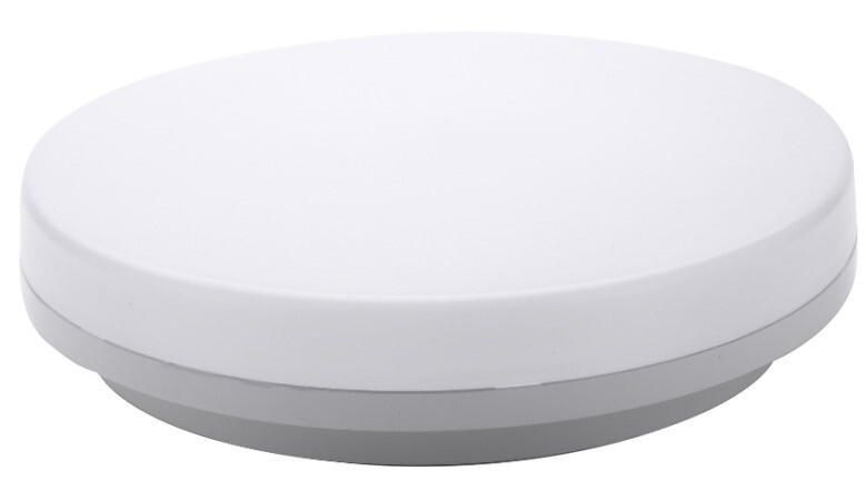 ProLuce® Deckenleuchte GIPETO 25W, Ø330x48mm, IP54, Tri-C., 2750 Lm, 120°, weiss, CRI 85, Sensor