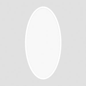 ProLuce® LED Panel OVALE/D 400x900x12.5 mm, 72W, 50/50%, 7200 lm, 3000K, CRI >90, silber, DALI