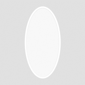 ProLuce® LED Panel OVALE/D 400x900x12.5 mm, 72W, 50/50%, 7200 lm, 4000K, CRI >90, silber, DALI