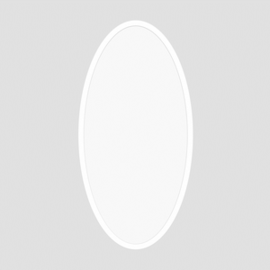 ProLuce® LED Panel OVALE/D 500x1200x12.5 mm, 110W, 50/50%, 11000 lm, 2700K, CRI >90, silber, DALI