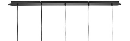 ProLuce® Hängeleuchte IL TUBO, 5er-Deckenkit, gerade, schwarz