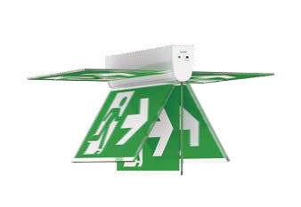 PROLUCE® LED Notleuchte EX6 Stahl, für Wand-/Sei-, ten-/Deckenmont., 4 Pictogr., 240V, 3 Std., man. T