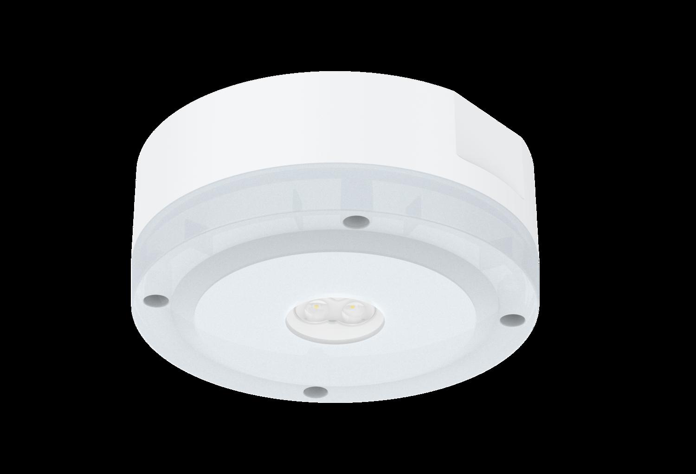 PROLUCE® LED Notleuchte EM2-IP IP65, für Decken-, anbau, weiss, 2 Linsen, 240V, 3 Std., Auto-Test