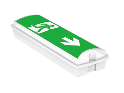 PROLUCE® LED Not-/Fluchtwegleuchte EM3 für Wand-, mont., 4 Pictogr., IP65, 240V, 3 Std., Auto-Test