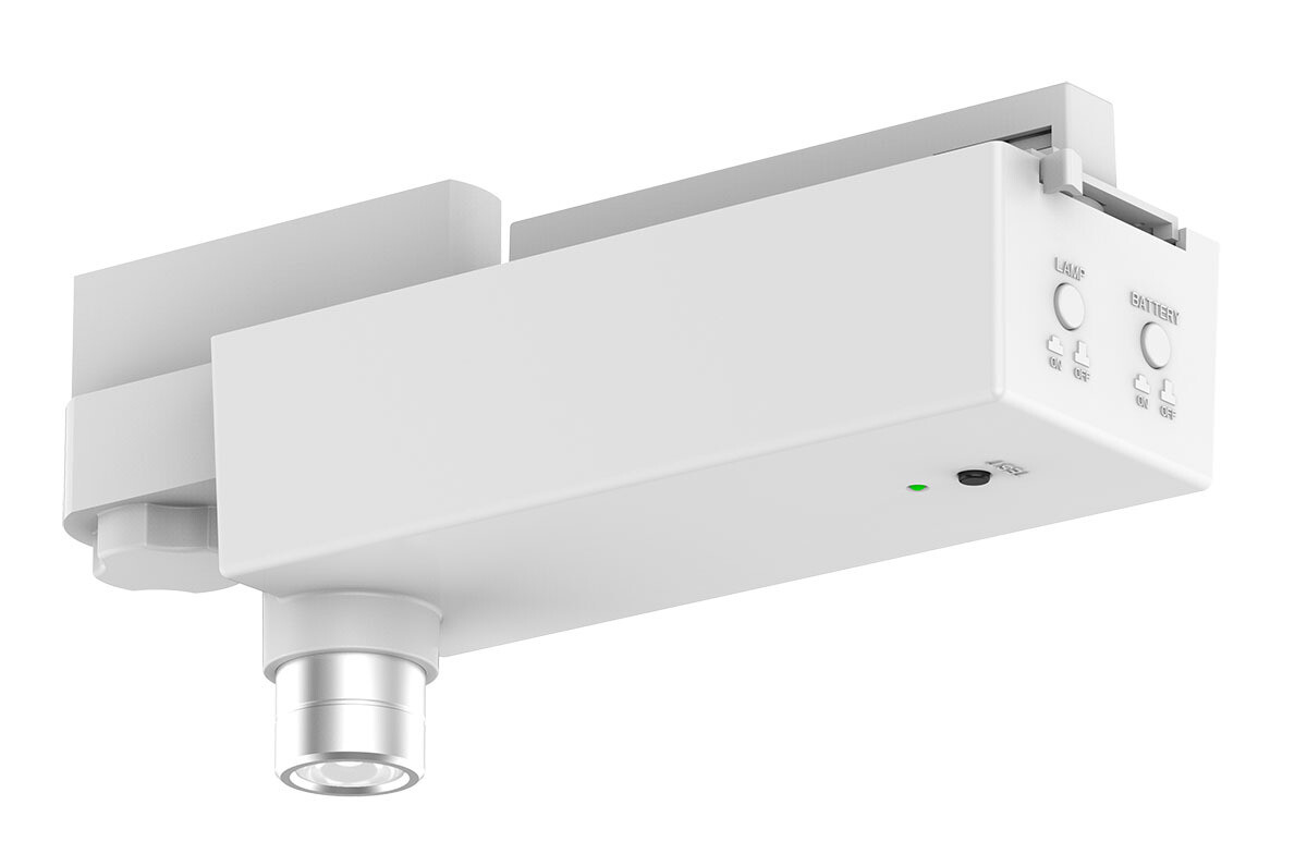 PROLUCE® LED Notleuchte EM7 mit Stromschienen-, adapter, weiss, 240V, 3 Std., Auto-Test