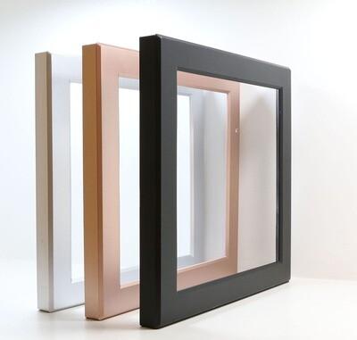 ProLuce® Farbring silber, quadratisch,, zu CIRCOLO S22, mit Aussparung für Sensor