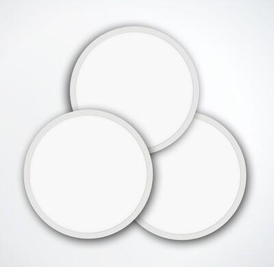 ProLuce® LED Panel TONDO 5048, Ø507 mm, 48W, 5280 lm, 3000K, CRI >90, 100°, 0-10V,  silber
