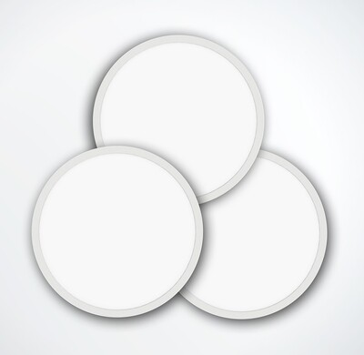ProLuce® LED Panel TONDO 5048, Ø507 mm, 48W, 5280 lm, 2700K, CRI >90, 100°, 0-10V,  silber