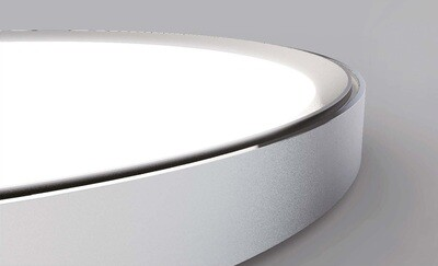 ProLuce® CODONE Aufbau-/Hängeleuchte 30W, weiss, Tri-Color, 2790 Lm, Ø330x41 mm, Backlight, on/off