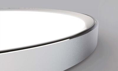 ProLuce® CODONE Aufbau-/Hängeleuchte 40W, weiss, Tri-Color, 3800 Lm, Ø440x44 mm, Backlight