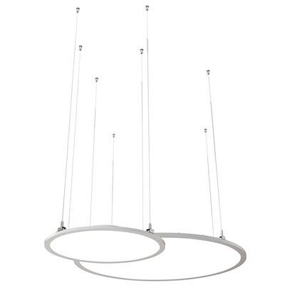 ProLuce® LED Panel TONDO/C Ø1200 mm, horiz., 110W, 12100 lm, 2700K, DALI, 100°, silber