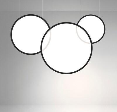 ProLuce® LED Panel TONDO/C Ø507 mm, vert., 36W, 3960 lm, 3000K, 0-10V,  100°, schwarz