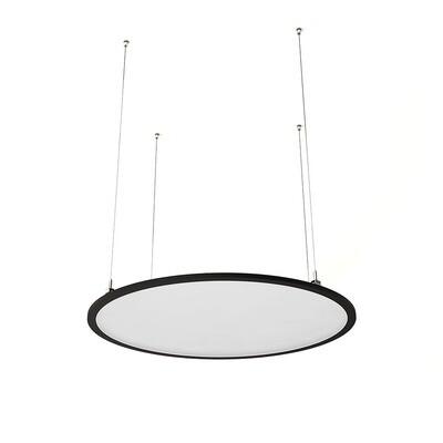 ProLuce® LED Panel TONDO/C Ø704 mm, horiz., 48W, 5280 lm, 2700K, DALI, 100°, schwarz